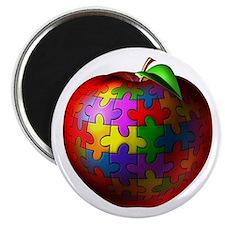 Puzzle Apple Magnet