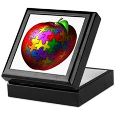 Puzzle Apple Keepsake Box