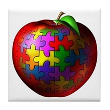 Puzzle Apple Tile Coaster