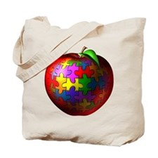 Puzzle Apple Tote Bag