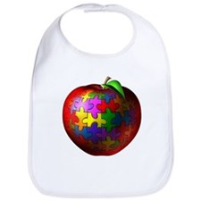 Puzzle Apple Bib