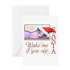 Wake Me If You See Santa Greeting Card