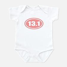 Pink 13.1 Half Marathon Infant Bodysuit
