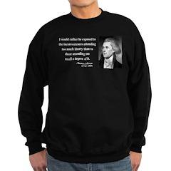 Thomas Jefferson 11 Sweatshirt (dark)