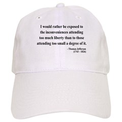 Thomas Jefferson 11 Baseball Cap
