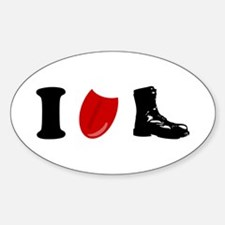 I Lick Boots Oval Decal