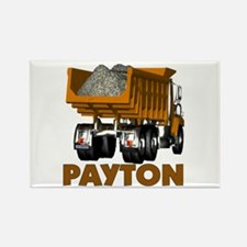 Payton Construction Dumptruck Rectangle Magnet