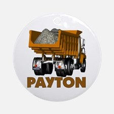 Payton Construction Dumptruck Ornament (Round)