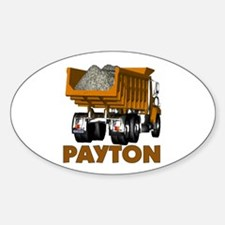 Payton Construction Dumptruck Oval Decal