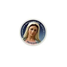 Our Lady of Medjugorje Mini Button