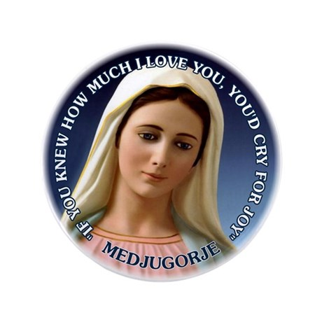 "Our Lady of Medjugorje 3.5"" Button"