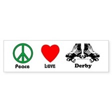 Peace Love Derby Bumper Bumper Sticker