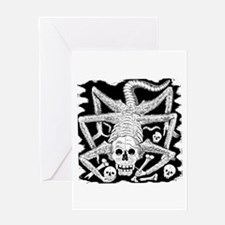 Calavera Hambrienta Greeting Card