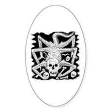 Calavera Hambrienta Oval Decal