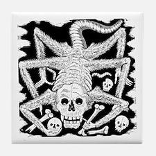 Calavera Hambrienta Tile Coaster