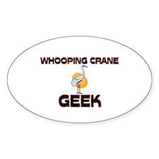 Whooping Crane Geek Oval Decal