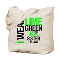 I Wear Lime Green For My Sister Tote Bag