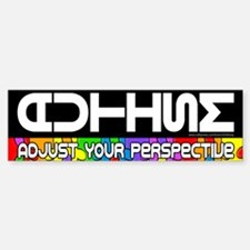 Adjust Your Perspective Bumper Car Car Sticker