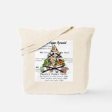 Raw Vegan Pyramid Tote Bag