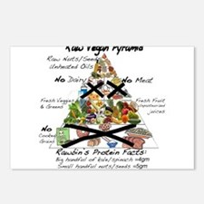 Raw Vegan Pyramid Postcards (Package of 8)