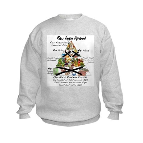 Raw Vegan Pyramid Kids Sweatshirt