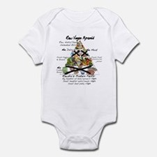 Raw Vegan Pyramid Infant Bodysuit
