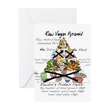 Raw Vegan Pyramid Greeting Card