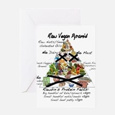 Raw Vegan Pyramid Greeting Card