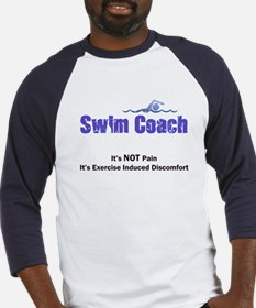 SWIM COACH Baseball Jersey