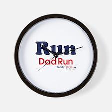Run Dad Run Wall Clock