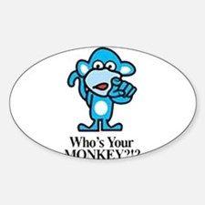 monkey Oval Decal