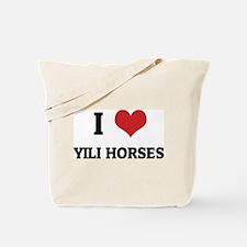 I Love Yili Horses Tote Bag