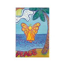 California Beach Angel Rectangle Magnet (100 pack)