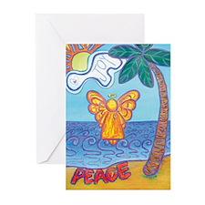 California Beach Angel Greeting Cards (Pk of 20)