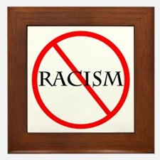 No Racism Framed Tile