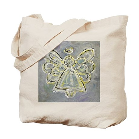 White Angel Painting Tote Bag