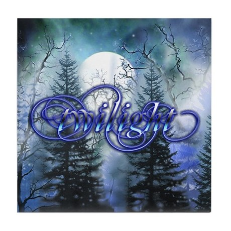 Moonlight Twilight Forest Tile Coaster