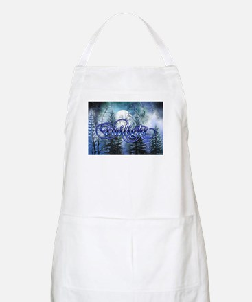 Moonlight Twilight Forest BBQ Apron
