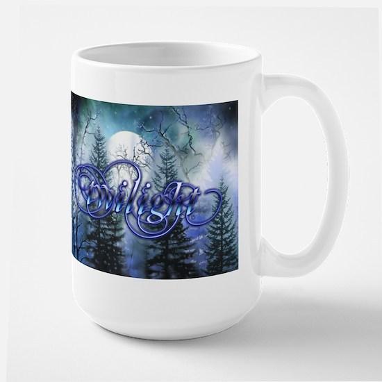 Moonlight Twilight Forest Large Mug