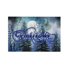 Moonlight Twilight Forest Rectangle Magnet (10 pac