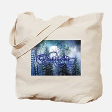 Moonlight Twilight Forest Tote Bag