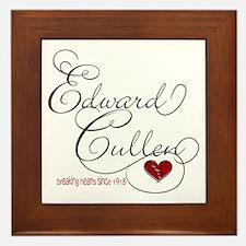 Edward Cullen Breaking Hearts Framed Tile