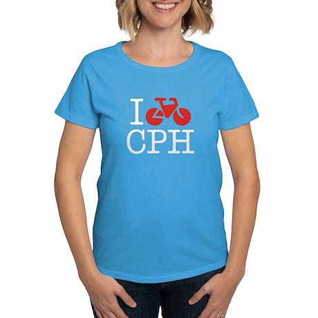 I Bike Copenhagen Women's Multi-Colored T-Shirt
