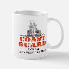 My Coast Guard Dad Answered Small Small Mug