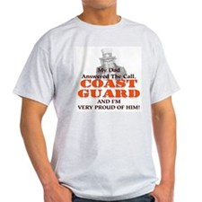 My Coast Guard Dad Answered Ash Grey T-Shirt