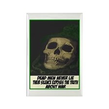 Dead men never lie Rectangle Magnet