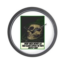 Dead men never lie Wall Clock