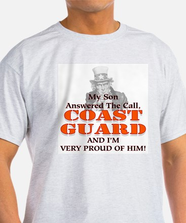My Coast Guard Son Answered Ash Grey T-Shirt