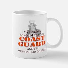 My Coast Guard Daughter Answered Small Small Mug