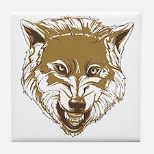 Wolf head Tile Coaster
